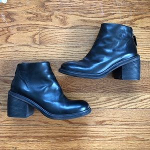 Marsell Black Leather Short Boots